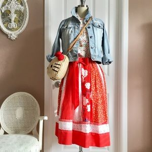 Vintage Carefree Fashion prairie skirt